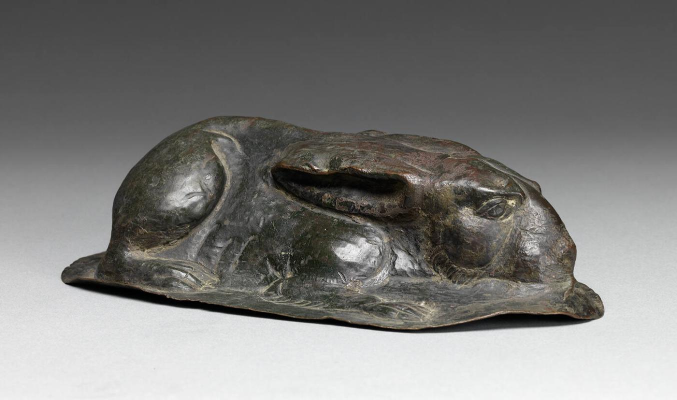 Repoussé Model of a Rabbit