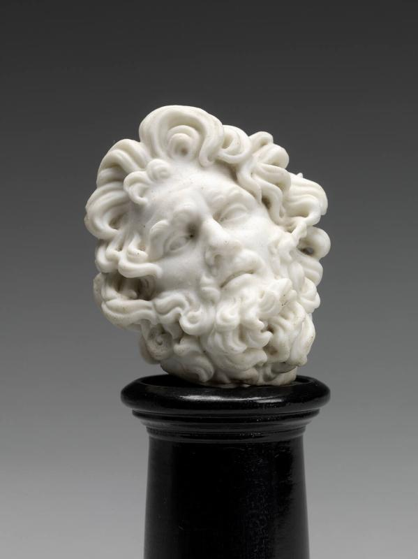 Head of a Man with Curly Hair (Zeus?)