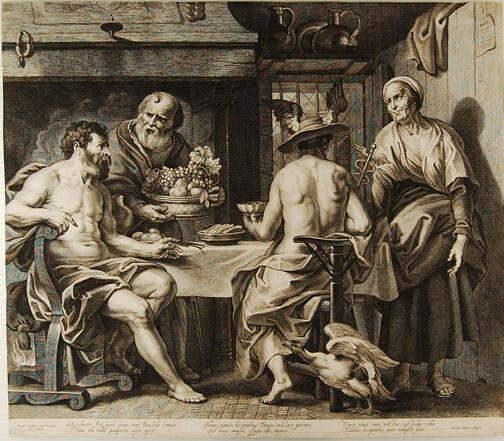 Jupiter and Mercury with Philemon and Baucis