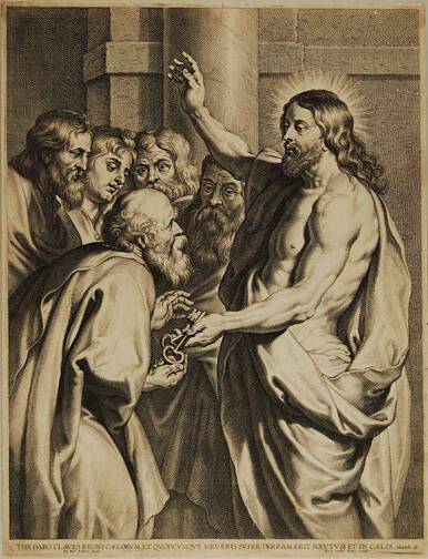 Christ Surrendering the Keys to St. Peter