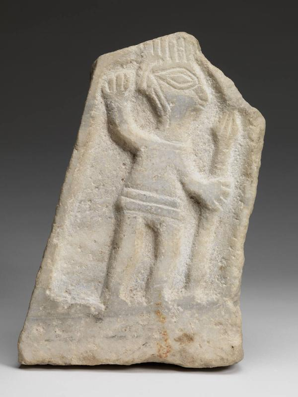 Relief depicting Man Holding a Spear