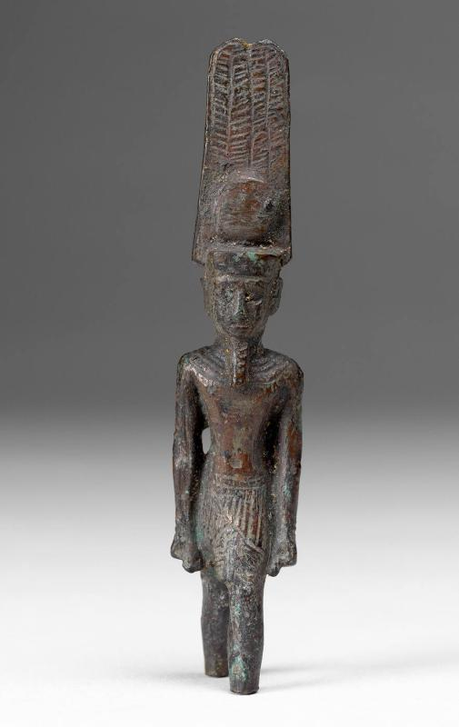 Statuette of Amun-Ra, Standing with Feathered Crown