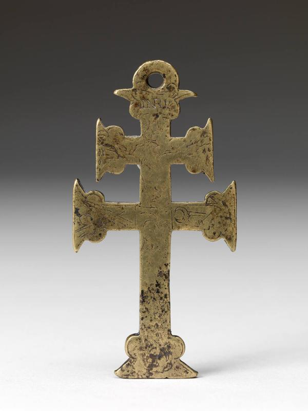 Cross with incised design
