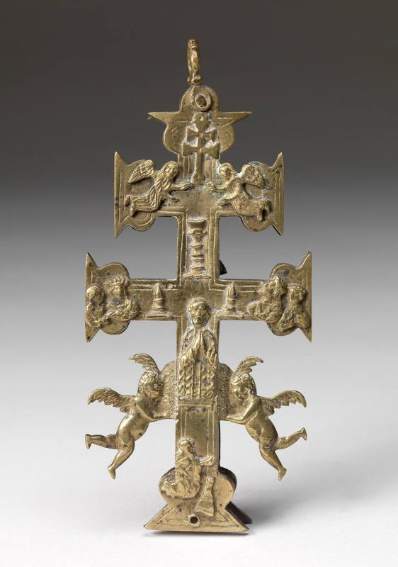 Crucifix with figural relief
