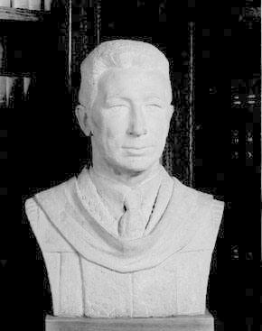 Bust of Tyler Dennett (1883-1949), Class of 1904, Ninth President of Williams College 1934-1937