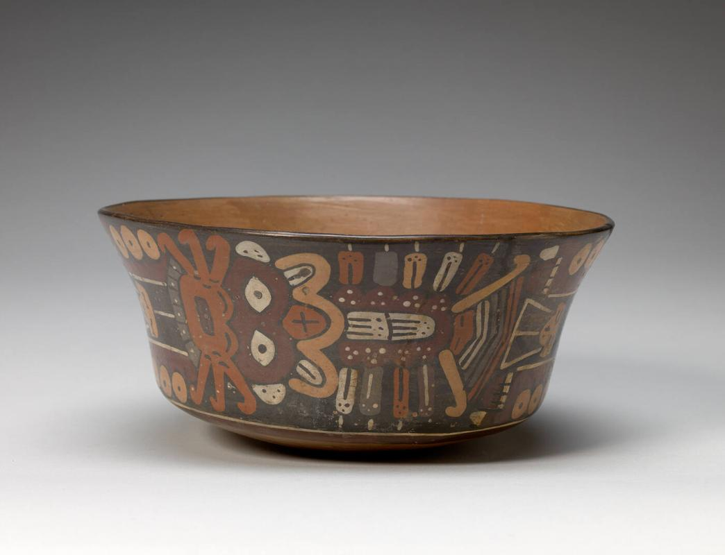 Bowl with Fearsome Deity Design