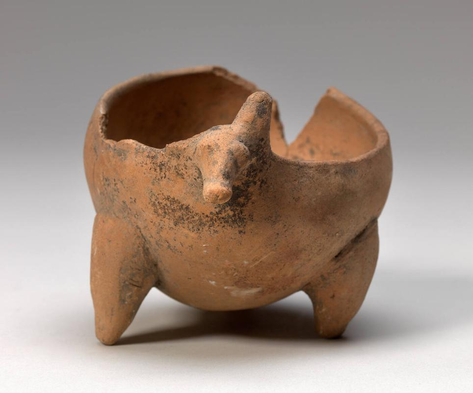 Irregular shaped, tripodal bowl