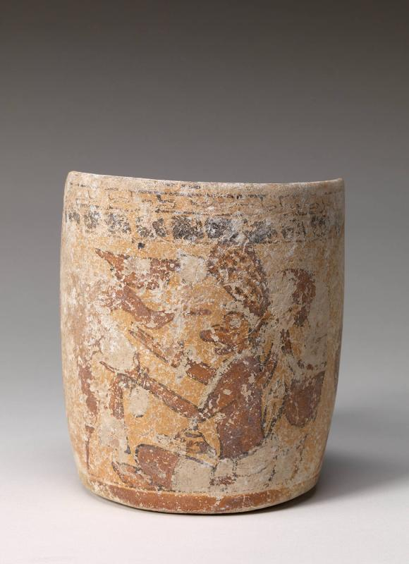 Vase with Seated Anthropomorphic Monkey