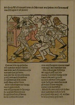 Wolfdietrich and Men Beating Saracens to Death, Strassburg (from the Heldenbuch)