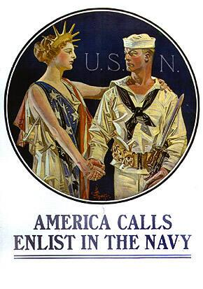 AMERICA CALLS, ENLIST IN THE NAVY