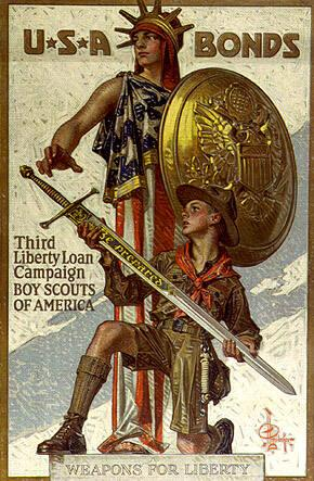 U.S.A. BONDS...WEAPONS FOR LIBERTY (Boy Scouts of America)