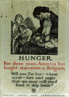 HUNGER, For three years America has fought starvation in Belgium