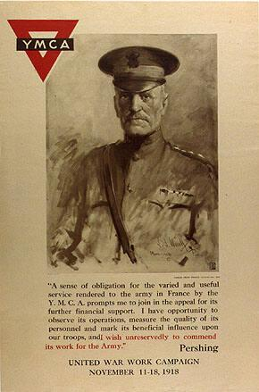 "(General Pershing) ""A sense of obligation for the varied and useful service..."""