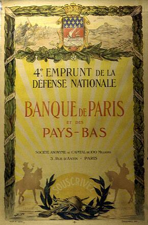4e Emprunt de la Defense Nationale Banque de Paris et des Pays-Bas