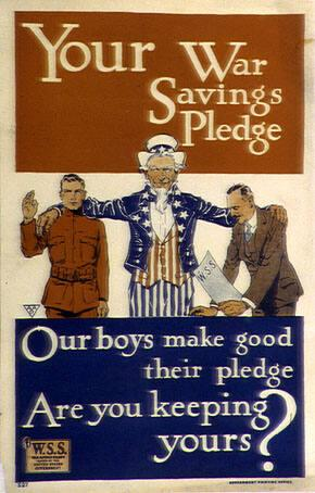 Your War Savings Pledge: Our boys make good their pledge, Are you keeping yours?