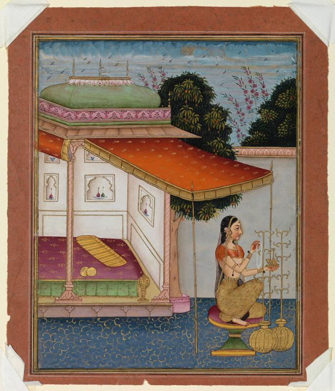 Gunkali Ragini, Page from a Dispersed Ragamala Set