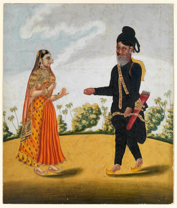 A Royal Guard and His Wife