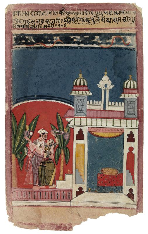 Malavi Ragini, Page from a Dispersed Ragamala Set