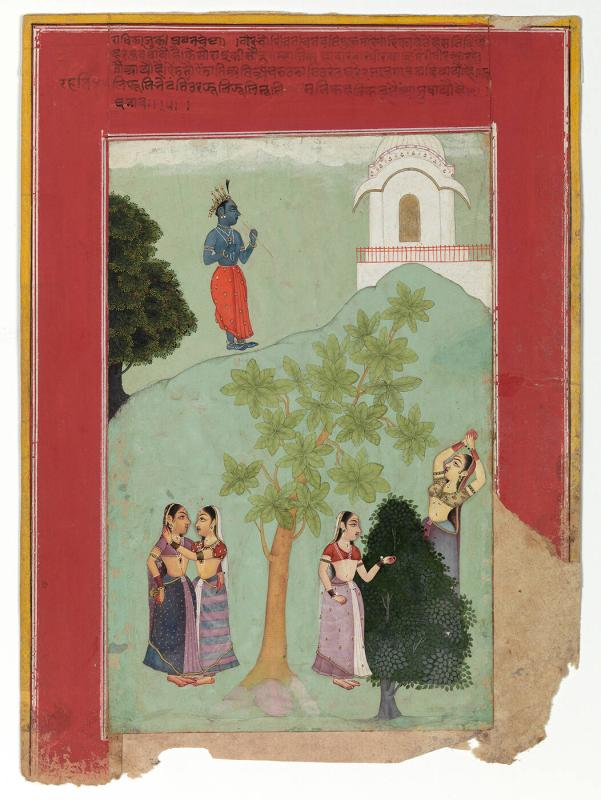 "The Gopis with Krishna (from a ""Rasikapriya"" series)"