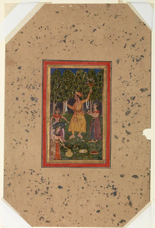 Vasant Ragini, Page from a Dispersed Ragamala Set
