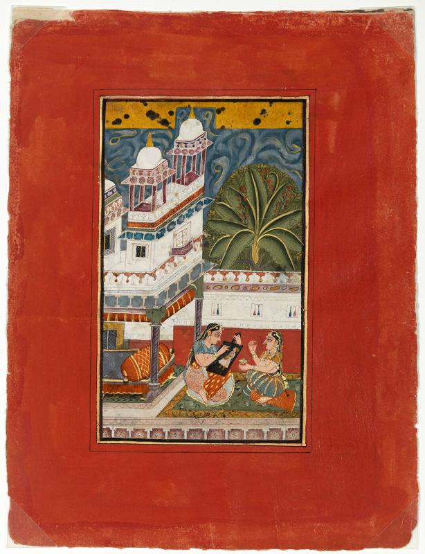 Dhanasri Ragini, Page from a Dispersed Ragamala Set