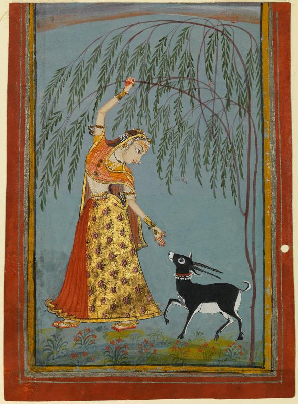 Ragini, possibly Todi, Page from a Dispersed Ragamala Set
