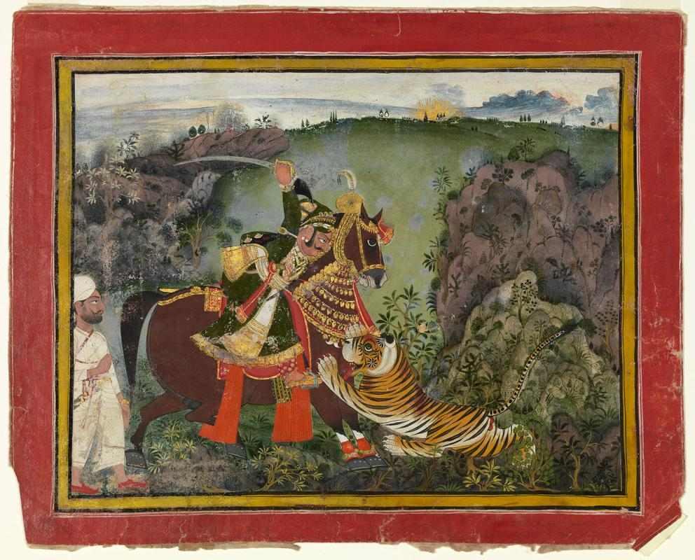 Rawat Ragho Das of Devgarh on a Tiger Hunt