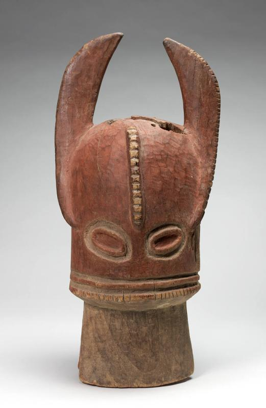 Bush Cow Helmet Mask, Vabo Society