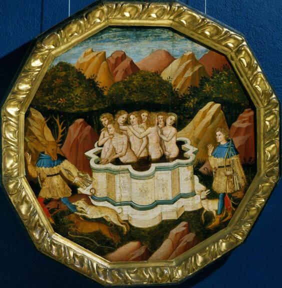 Birth Platter with The Story of Diana and Actaeon