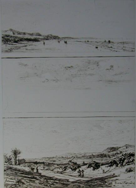 Three landscapes [bottom one titled Dive (Calvados)]