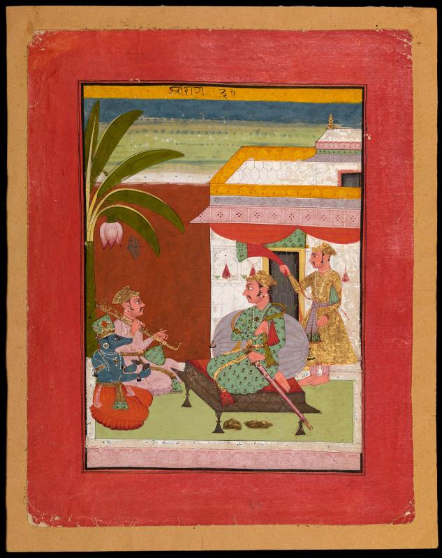 Sri Raga, Page from a Dispersed Ragamala Set