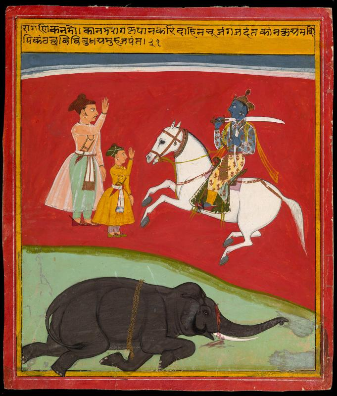 Kanada Ragini, Page from a Dispersed Ragamala Set