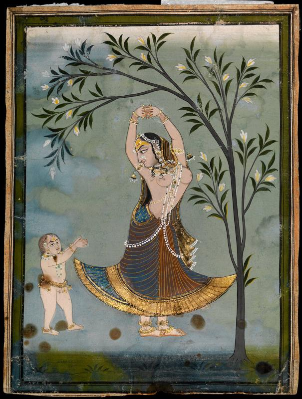 Female dancer and a child