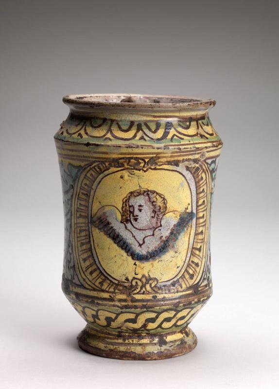 Vase with palmetto decoration