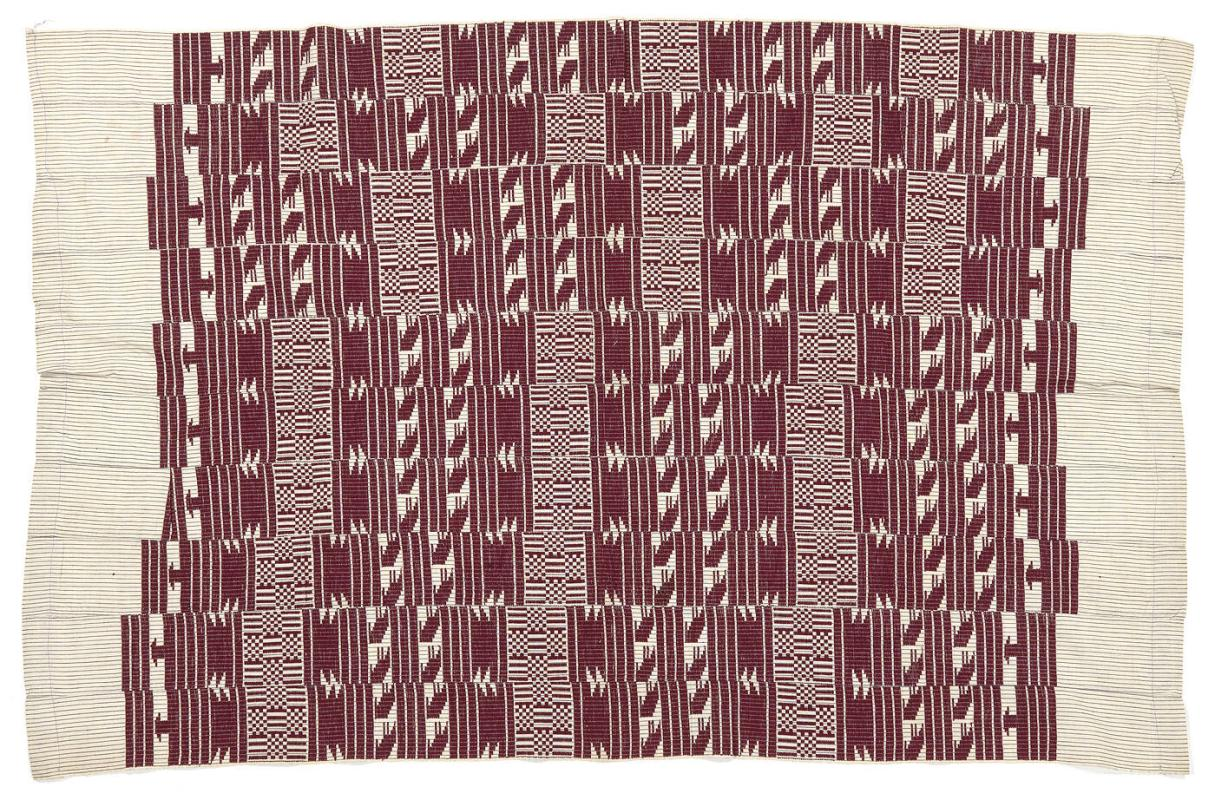 Aso oke men's weave cloth (possibly mantle, wrapper or blanket)