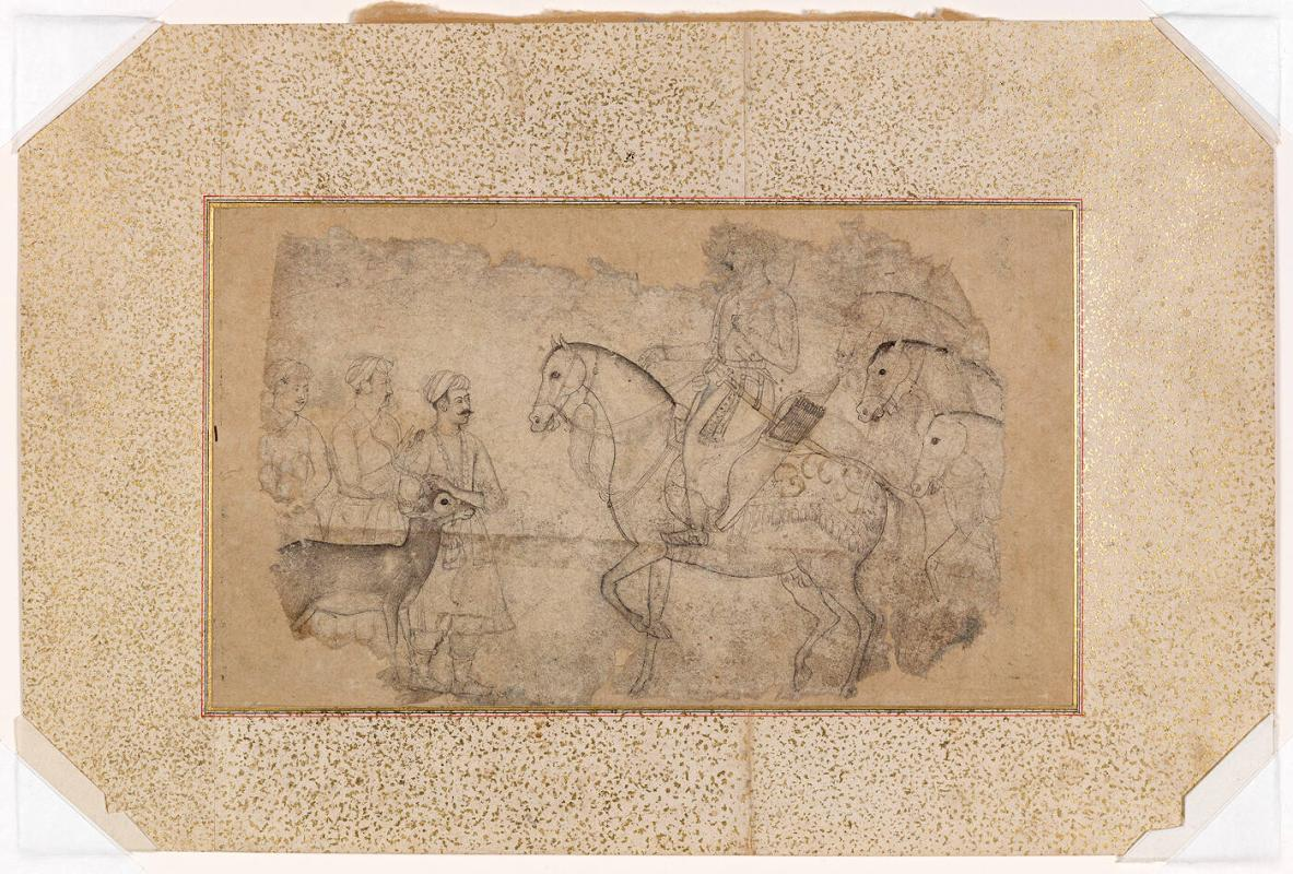 Shah Jahan Receives a Buck