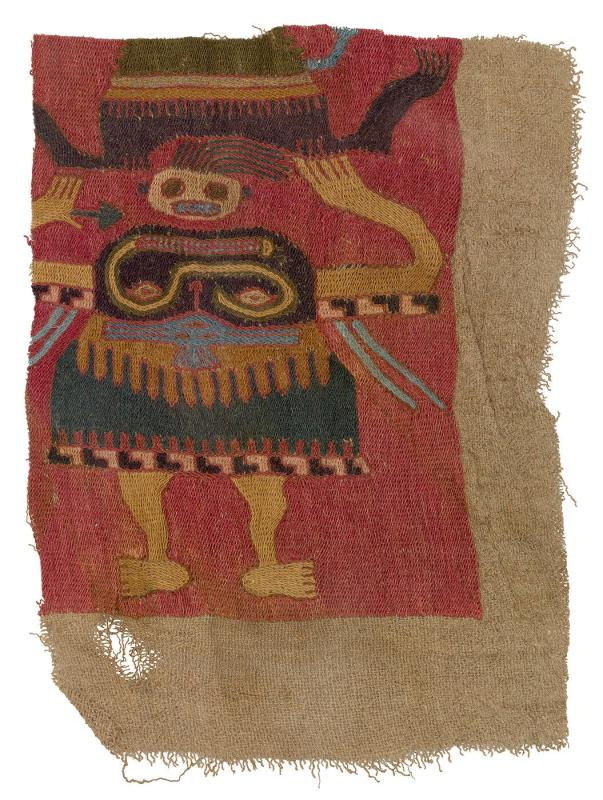 Tapestry fragment with grotesque figure