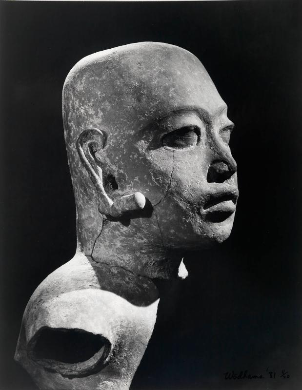 Sculpture of head (in profile)