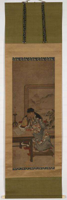 Chinese Noble Seated Before a Screen