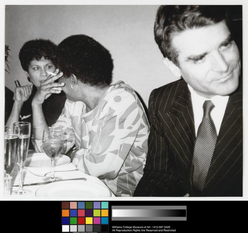 Basquiat's mother, Charles D'Estainville, and Unidentified woman