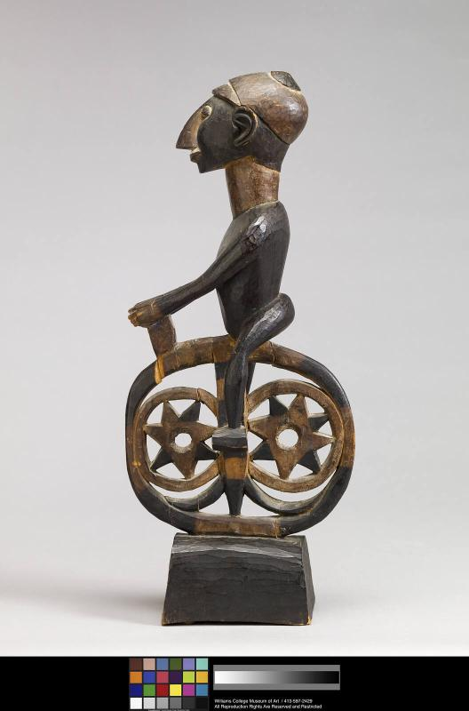 Transitional Figure of a Bicycle Rider