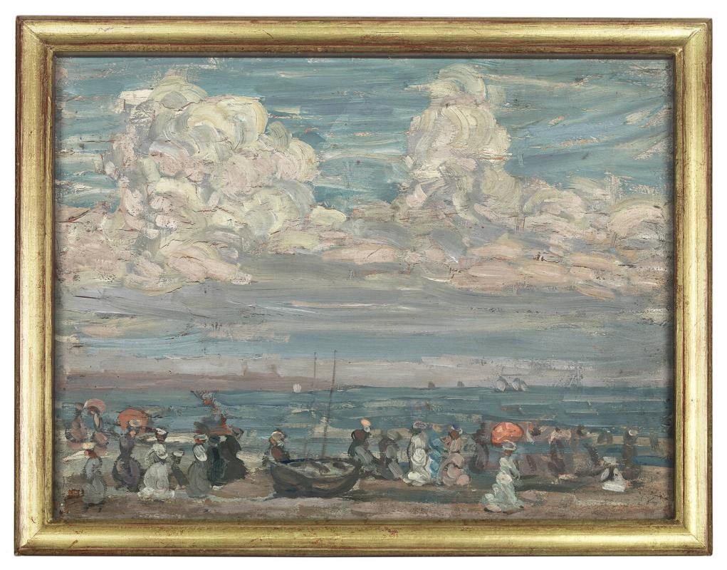 Beach Scene with Boat