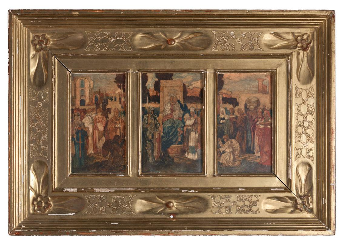 "Frame for ""Study of Altarpiece"" by George Hallowell"