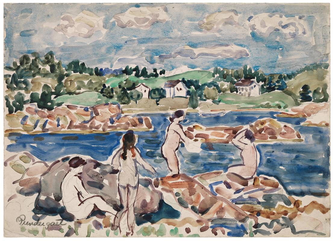 Bathers at Passamaquoddy Bay
