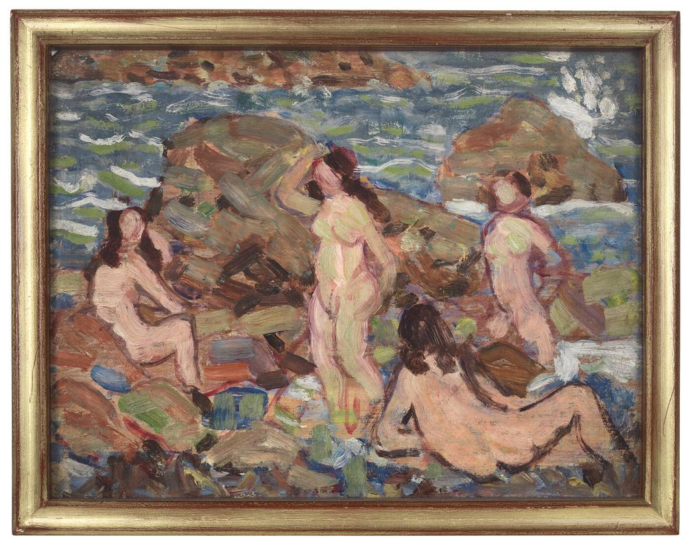 Four Nudes at the Seashore