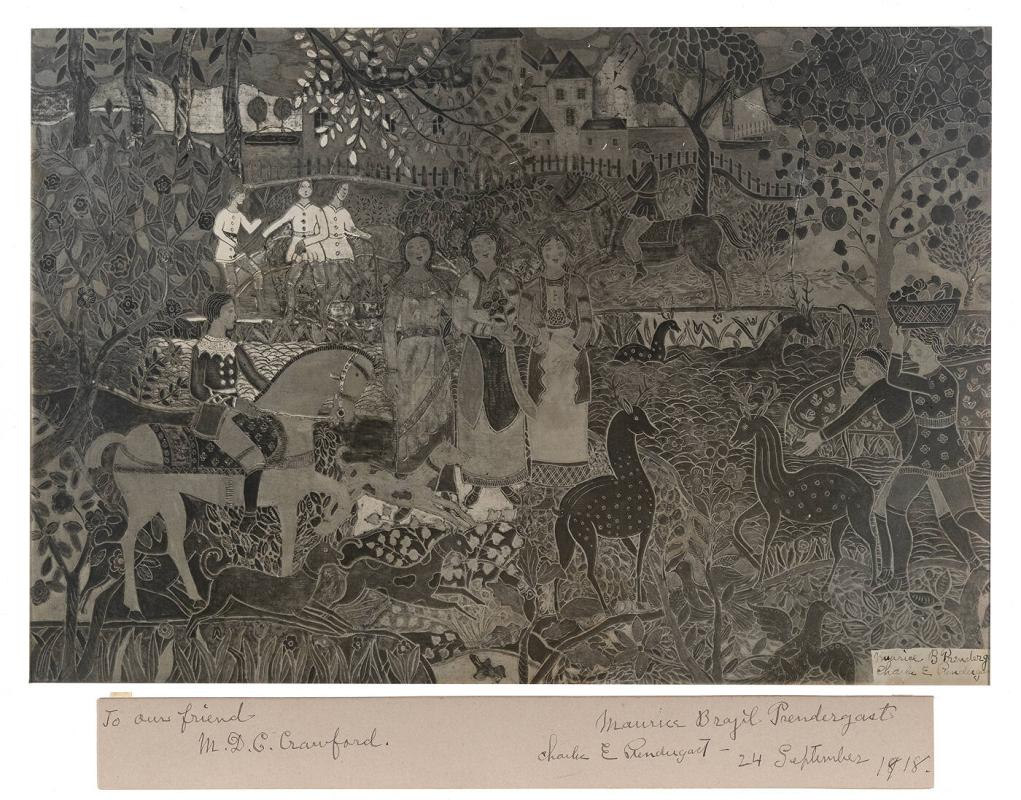 "Photograph of ""Spirit of the Hunt"" by Charles and Maurice Prendergast"