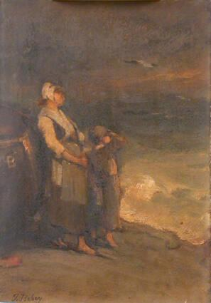 Woman and Child by the Sea
