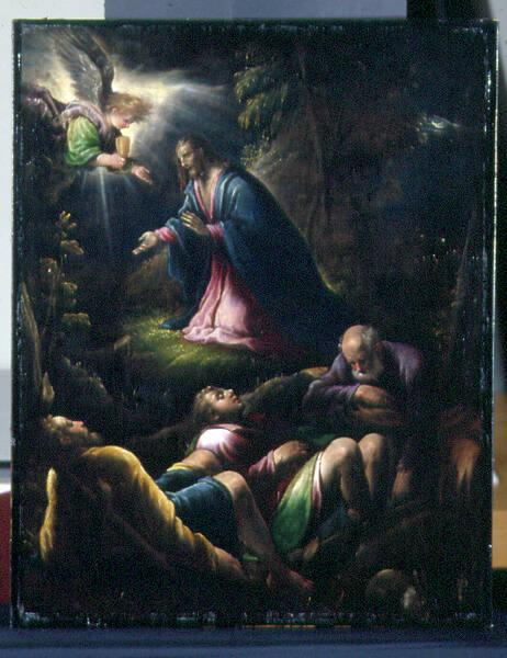 The Agony in the Garden or Christ or the Mount of Olives with Peter, James and John