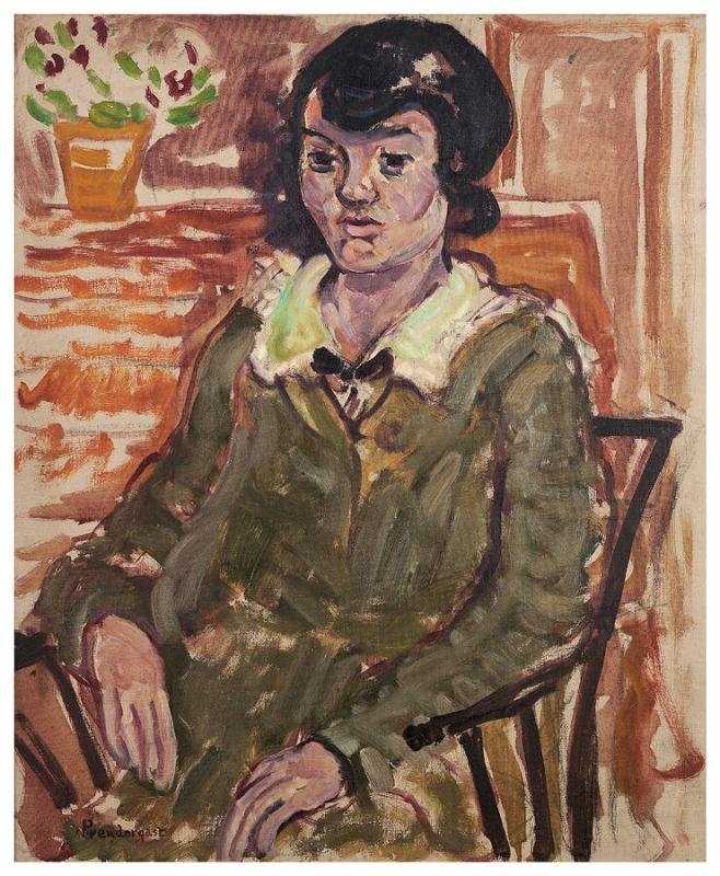 Portrait of a Woman in a Green Jacket