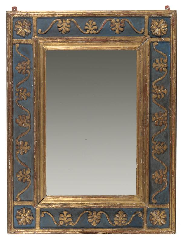 Mirror Frame - Blue and Gold